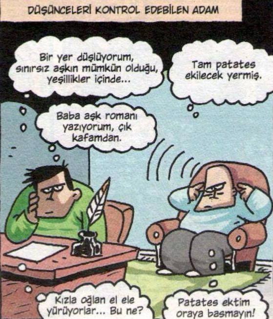 Özer Aydoğan; Roman yazarının telepatik babası  :):