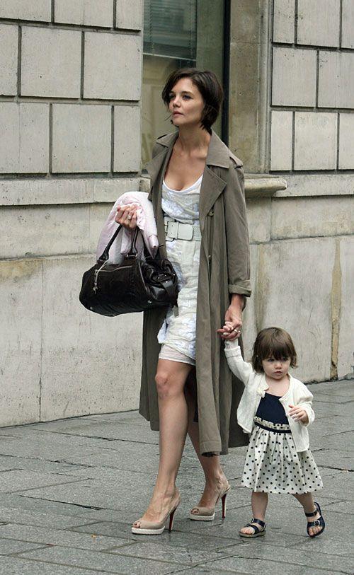 Katie Holmes and Suri Cruise in Paris 2007