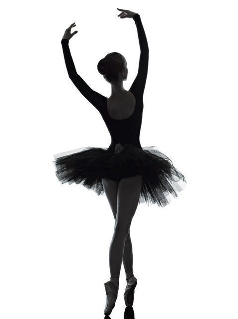 Eleganz Balletttänzerin weiß und schwarz Poster drucken auf