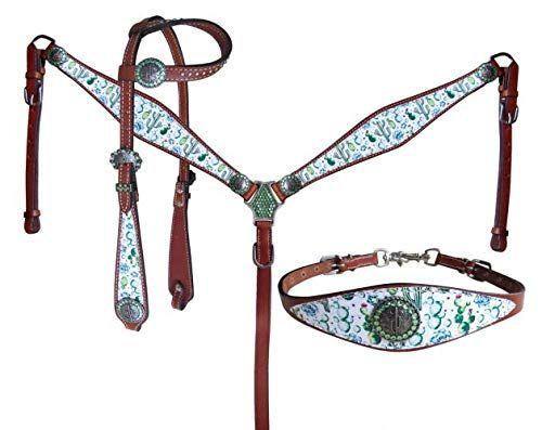 Showman Serape Print Headstall /& Breast Collar Set w//Reins New Horse TACK!