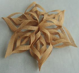 Purple Hues and Me: Burlap 3D Snowflakes