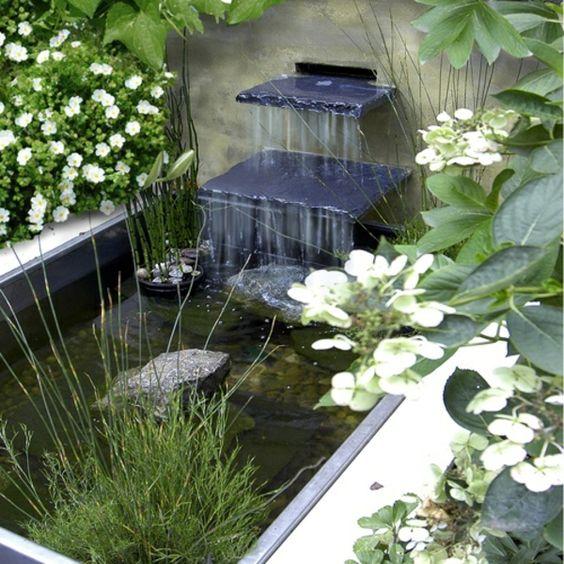 cascade et fontaine de jardin 69 d co pour les moments de relaxe instagram. Black Bedroom Furniture Sets. Home Design Ideas