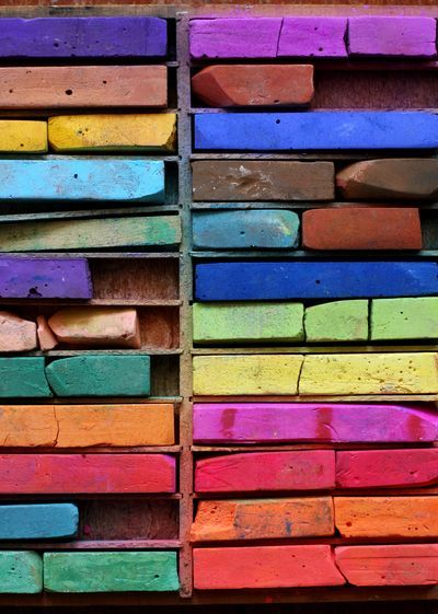 chalk pastels.