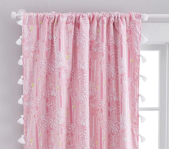 Lilly Pulitzer Neckin Blackout Curtain, Pottery Barn Lilly Pulitzer Curtains