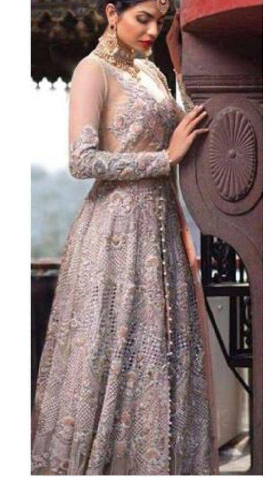 Ladies Women Indian Pakistani Embriodered Salwar Kameez Party Dress Ebay Fancy Wedding Dresses Dresses Bridal Dresses