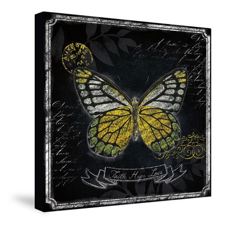 Inspiration Butterfly II Canvas Wall Art – Laural Home