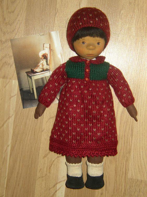 Postkarte Pongratz und ein handgearbeitetes Strickkleid Erbeere | eBay