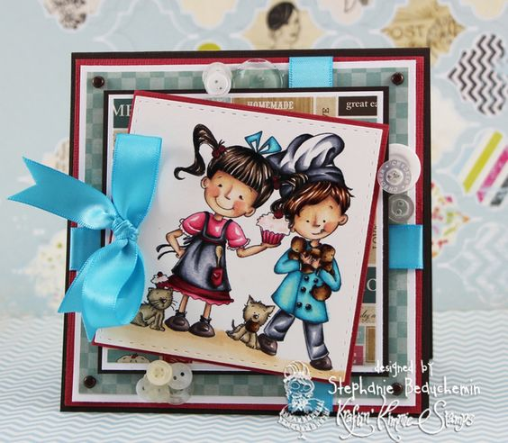 A World of Creative Possibilities: Kraftin' Kimmie Stamps : New release day 4, Made With Love!