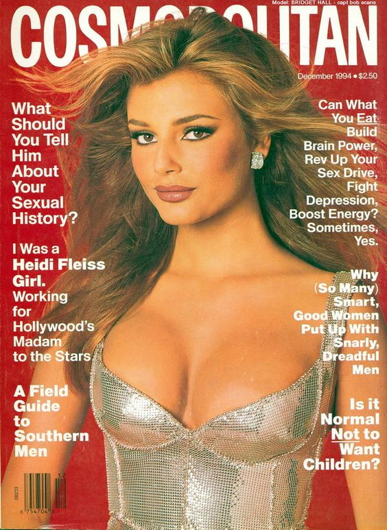 Cosmopolitan USA cover with Bridget Hall - December 1994