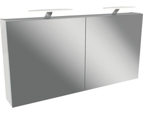 Armoire A Miroir Fackelmann Tamia Blanc 120x62x13 6 Cm Armoire Miroir Blanc