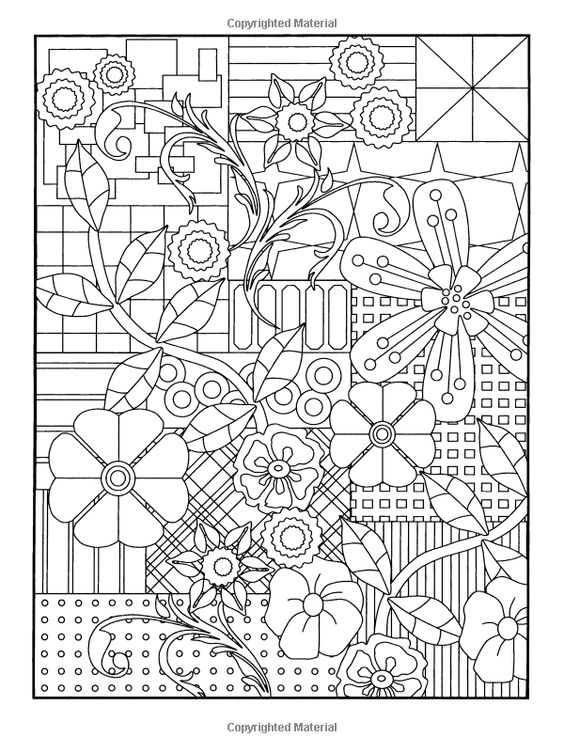 Amazoncom Garden Party Flower Designs to Color Dover
