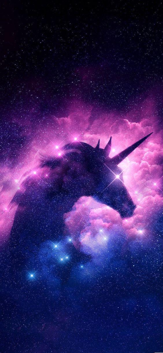 Galaxy Unicorn Wallpaper Kawaii Apple iphone wallpaper unicorn ungu