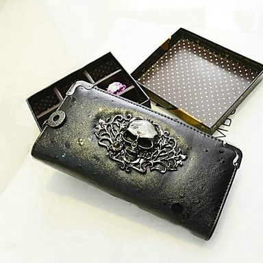 Women's+High+Quality+Europe+Retro+Punk+Skull+PU+Leather+Long+Section+Wallet(Assorted+Colors)+–+GBP+£+8.75