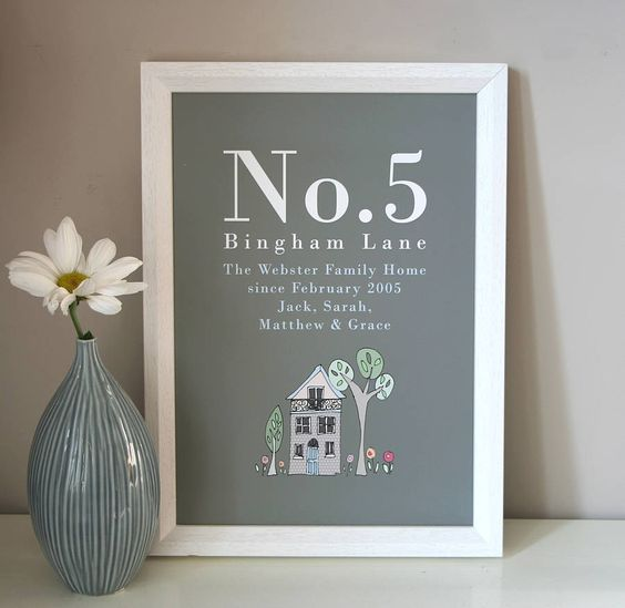 Personalised Home Is Where New Home Gift Print By: Personalised Family Home Print