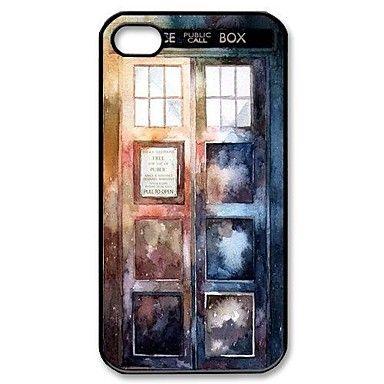 Popular Doctor Who Aquarela Tardis padrão caixa de plástico rígido para iPhone 4/4S – BRL R$ 10,32