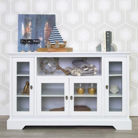 Antique White Wood Rochester Media Stand By World Market Home