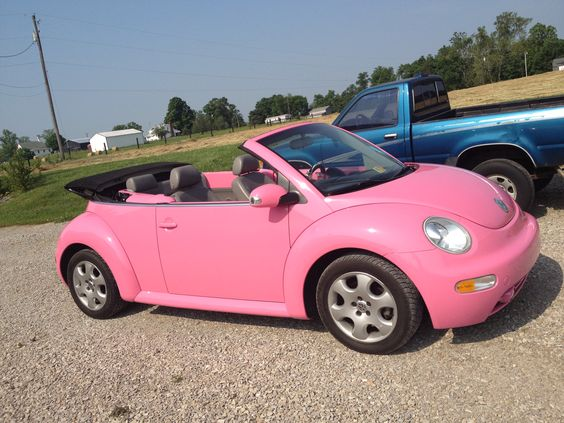 Pink Convertible Volkswagen Beetle (mine) | Little Cars ...