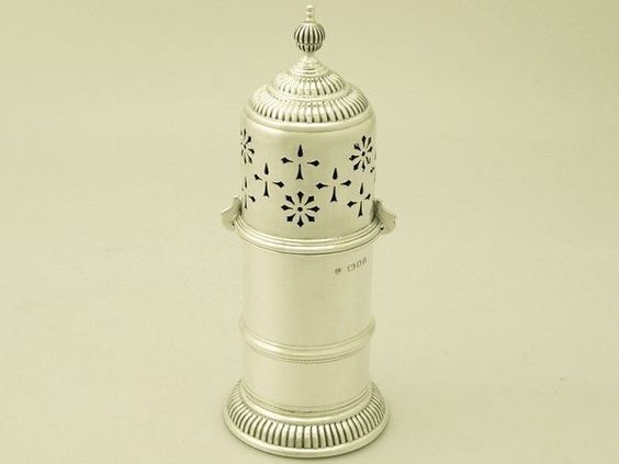 Sterling Silver Lighthouse Style Sugar Caster - Antique Edward VIII #WilliamComynsSonsLtdRichardComyns