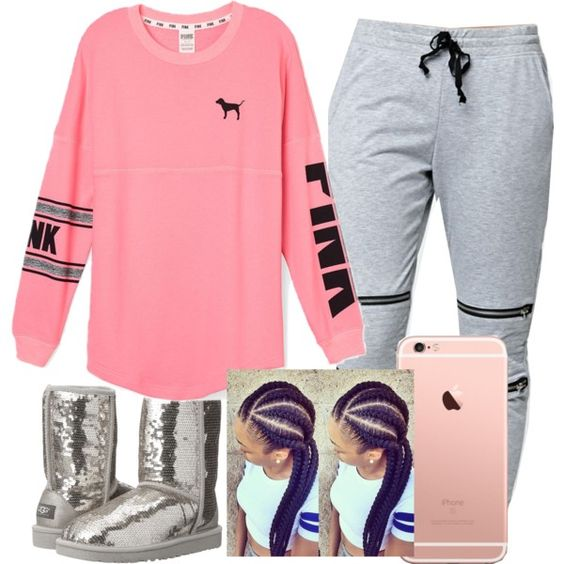 Untitled #172 by khanyajane on Polyvore featuring polyvore, fashion, style, Victoria's Secret PINK, LA: Hearts, UGG Australia and clothing