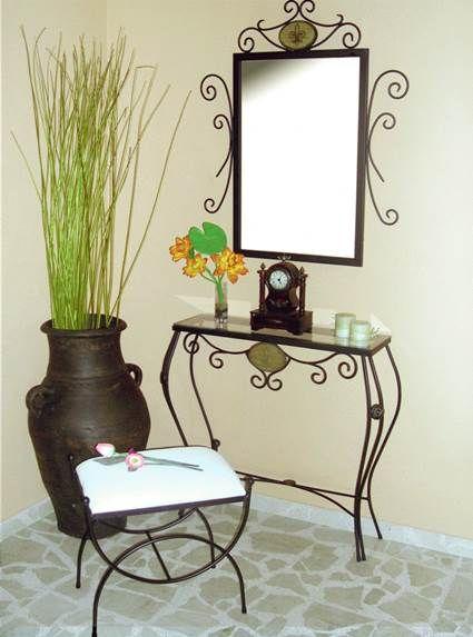 Muebles de forja para el recibidor herreria pinterest - Perchero recibidor antiguo ...