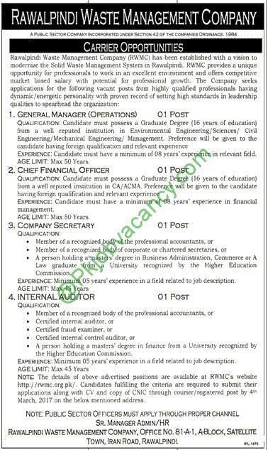 Multan Waste Management Company MWMC Jobs Application Form - managing director job description