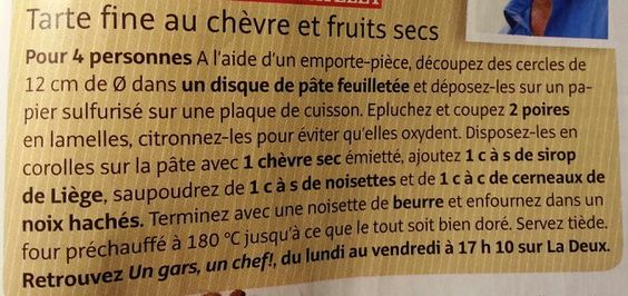 Zakouski chèvre fruits secs