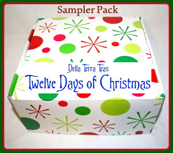 Della Terra Teas - 12 Days of Christmas Sampler Box, $30.00 (http://www.dellaterrateas.com/12-days-of-christmas-sampler-box/)