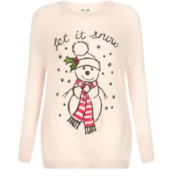Cream Let It Snow Christmas Jumper @Simon Starr Starr duckmanton
