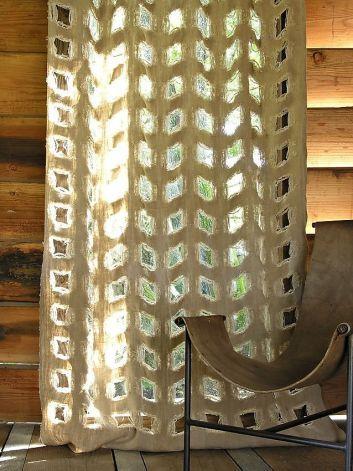 Mann-O-Print square cutwork Photo: Louise Mann