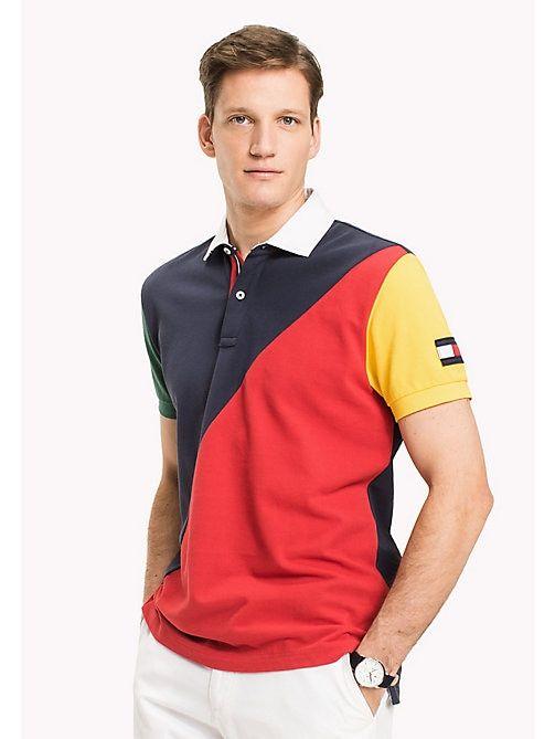 Tommy Hilfiger Big Tall Polo Color Block Navy Blazer Multi Tommy Hilfiger Tallas Grandes Image Ropa De Moda Hombre Playera Polo Hombre Ropa De Hombre