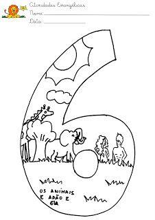6th day of creation - ESCOLA DOMINICAL INFANTIL: A Criação do Mundo - Deus fez o mundo em sete dias