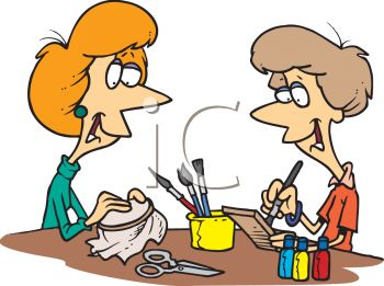 Two Women Doing Crafts