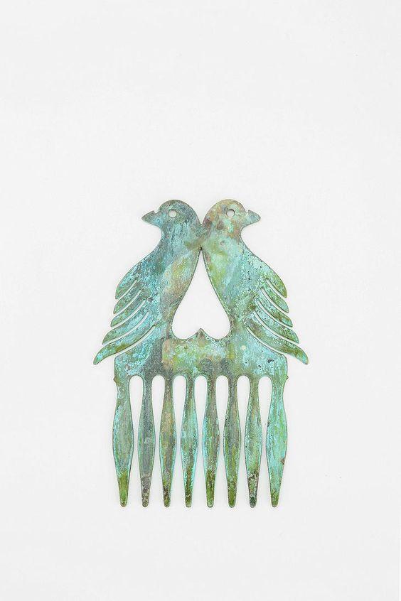 Diament Jewelry For Urban Renewal Bird Heart Hair Comb #urbanoutfitters