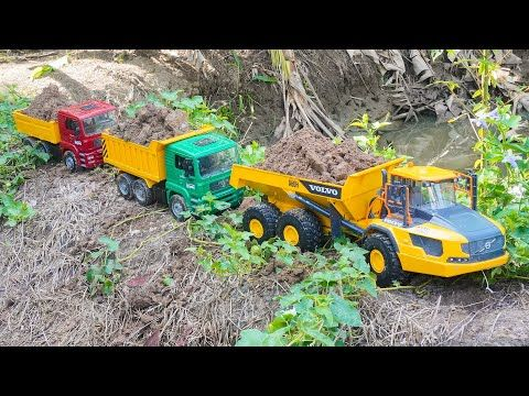 Mobil Truk Tronton Scania Rc Muat Pasir Loader Excavator Keruk Youtube Mobil Rc Pasir Mobil