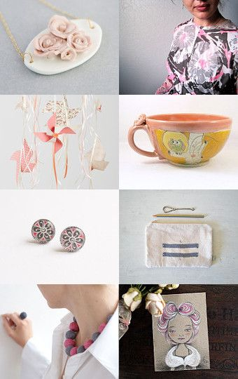 Pink mom by maya ben cohen on Etsy--Pinned with TreasuryPin.com