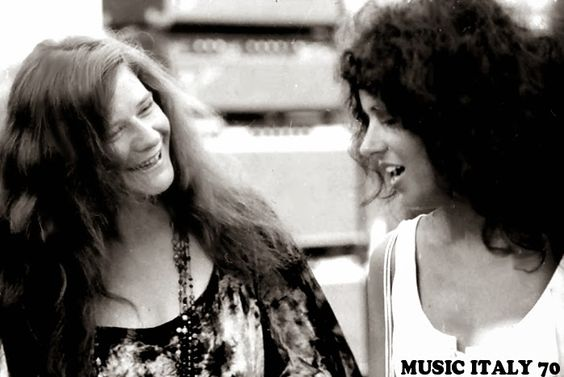 Janis Joplin and Grace Slick at Woodstock