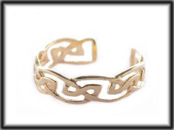 9ct Yellow gold Celtic adjustable Toe ring JTR07