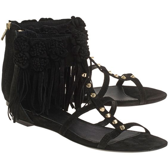 ASH Ophely Black // Suede leather sandals (10.110 RUB) ❤ liked on Polyvore featuring shoes, sandals, black sandals, flat sandals, embellished sandals, black embellished sandals and black studded sandals