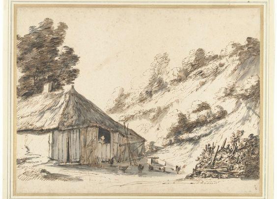 Anthonie van Borssom | Boerderij bij een zandheuvel, Anthonie van Borssom, 1670 - 1677 |