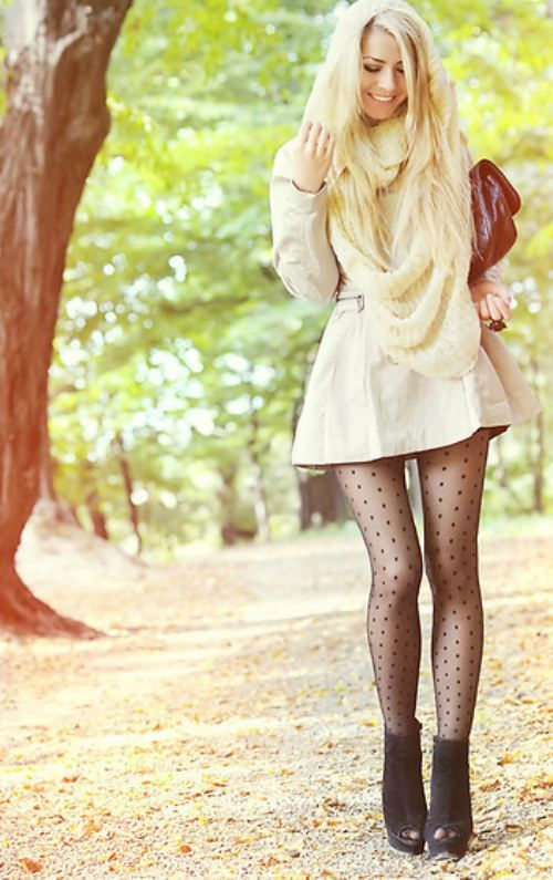 I always say I'm going to wear tights with dresses during the winter. Maybe I will actually do it this year.:
