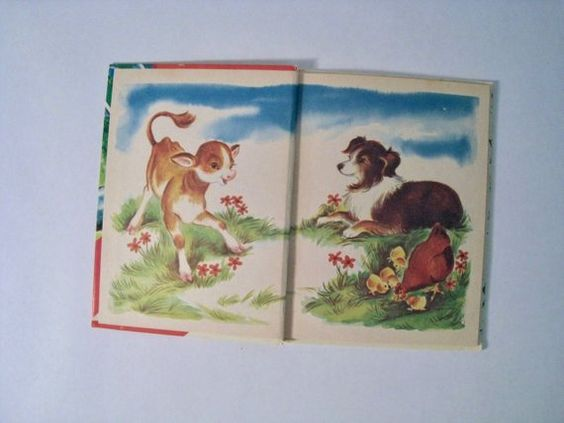 Farm Animals. Rand McNally Good Start Elf book, 1966. by Naoma Zimmerman, illustrated by Irma Wilde