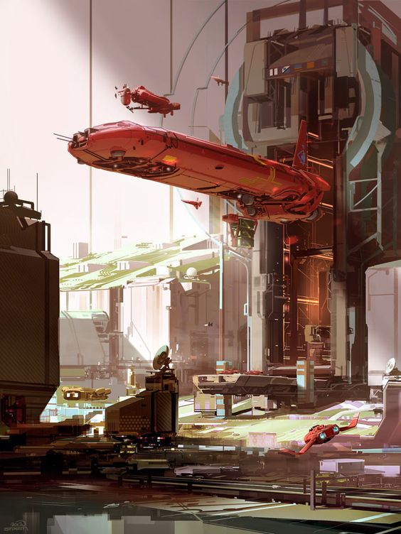 I want to live in the optimistic sci-fi worlds of Nicolas Bouvier