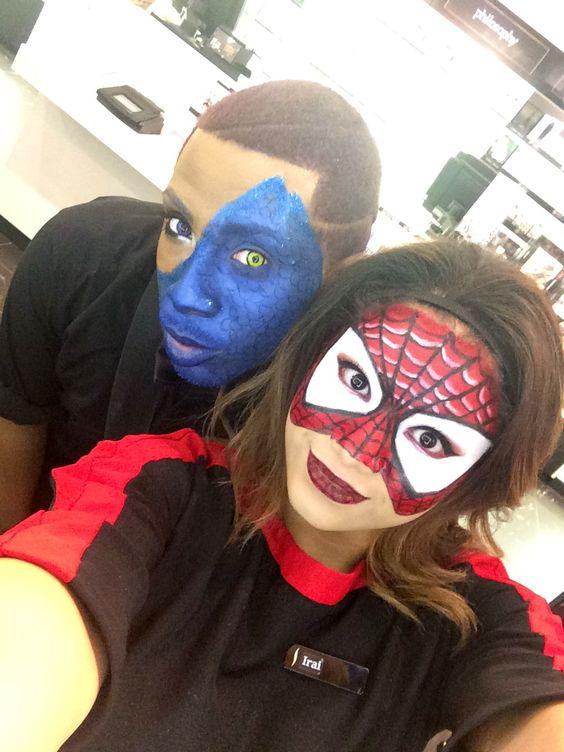 Spiderman Inspired Makeup spiderwoman