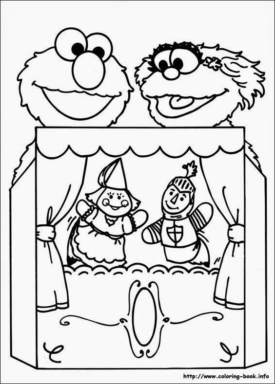 Elmo Zoe puppets