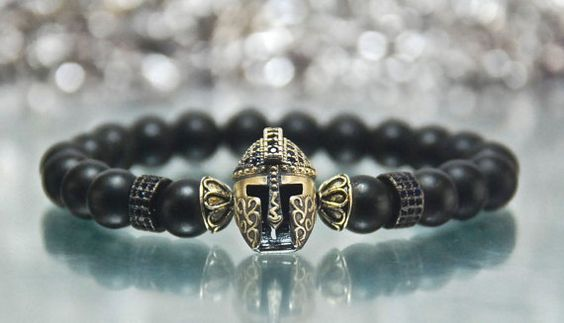 Men's Strength Matte Black Onyx Gemstone by Irisjewelerystudio