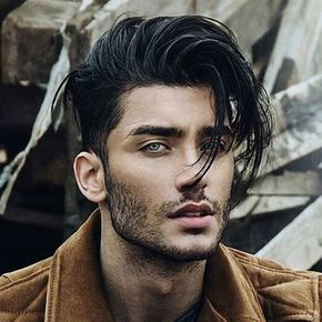 Messy Long Hair With Taper Fade And Bangs Long Hair Styles Curly Hair Styles Naturally Long Hair Styles Men
