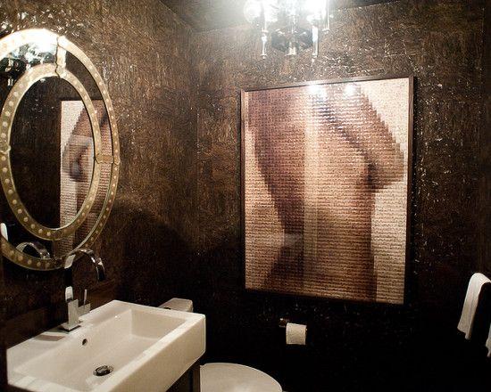 Mosaikkfoto på vegg! badet.eklektisk baderom design, bilder ...