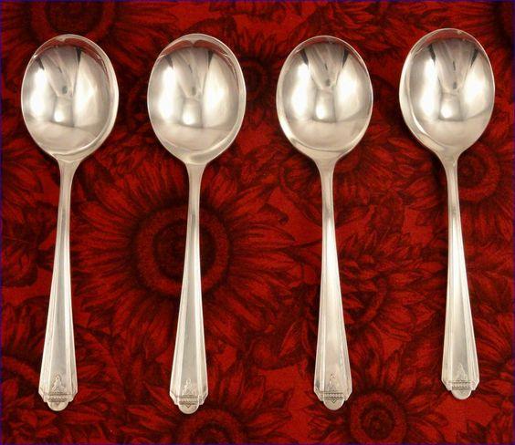 Rare Cream Soup Spoons 6