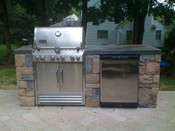 Extra storage york and extra storage space on pinterest for Basic outdoor kitchen ideas
