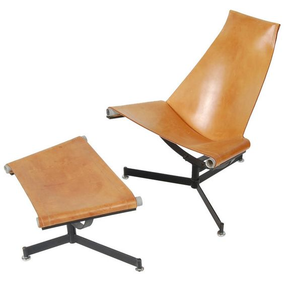 Max Gottschalk Lounge and Ottoman | From a unique collection of antique and modern lounge chairs at https://www.1stdibs.com/furniture/seating/lounge-chairs/